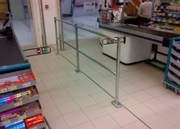 McCue Corporation provides a modular chrome barrier system to suit all retail store configerations and needs. The two height options support security gate installations, in-store trolley bays, together with traditional customer guiding solutions.