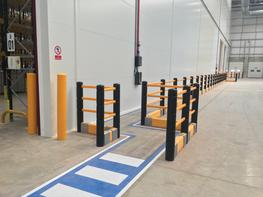 Pedestrian Barrier with Crash Barrier  image