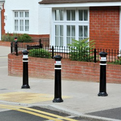 BX 1539Classic style cast iron bollard with decorative banding and rounded top.Price shown is for a single root fixed cast iron bollard painted in a single Broxap colour only (black as standard). All options are available at an extra cost....