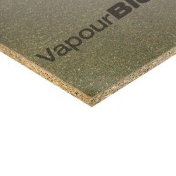 DURÉLIS VapourBlock is a 12mm, 2400 x 1200mm high density chipboard with a factory fitted transparent airtightness and vapour control layer, TOPFINISH, on one side. This surface applied finish guarantees consistent airtightness and vapour control. It also eli...