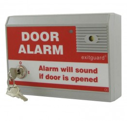 Exitguard door alarm with integral keyswitch - Red image