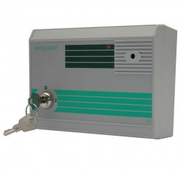 Exitguard door alarm with integral keyswitch - Green image