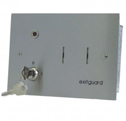 EX105sf is 12vdc powered - Use where the protected door may be opened frequently or the sounder may need to sound for a long time. This version can also be used as part of a system where it is necessary to interface with other equipment such as intruder alarms...