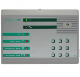 Exitguard is the ideal solution for security of fire exit doors. An integral high power sounder is activated when the door is opened to warn those in the vicinity that security has been breached.Keypad ControlUnique Fire Door Checker175 x 125 x 60 tapering...