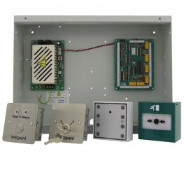 Based on the IG432 controller, this kit includes everthing you need for a 4 door interlock system excluding door locks, contacts and cable.The kit comprises:1 x IG432 - controller with PSU8 x S1718S - release button with status LEDs1 x S1719S - maintenan...