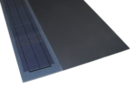 Overall size of Easy solar slate, mm:  1500 x 600Overall solar panel size, mm:  1470 x 190Solar panel area, m2:  0.285Panel structure:  9x mono chrystaline cellsPanel output, watt: 38Panel per m2:  3.5Output per m2:  133...