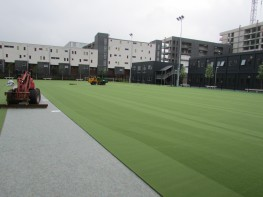 Needlepunch synthetic turf surfacing is a popular choice for sports facility surfacing at organisations throughout the UK and we can provide a number of needlepunch services to help with your project. This fibre bonded artificial sport surface is a hard wearin...