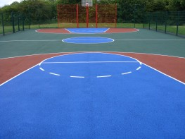 One of the main basketball court services we have to offer is the installation of surfacing which can come in a range of specifications and can be tailored to suit your requirements. The most popular surfacing option for basketball courts is Type 1 macadam as ...