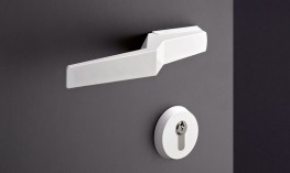 Range 120 Steel Core White or Matt Black simplistically designed door hardware - HEWI UK