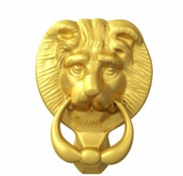 UAP Large Lions Head Door Knockers image