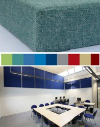 SuperPhon™ acoustic wall panels for wall soundproofing are a composite construction and offer a fabric-covered solution for reducing sound reverberation.  SuperPhon™ acoustic wall panels deliver highly effective wall soundproofing and reverberation contr...