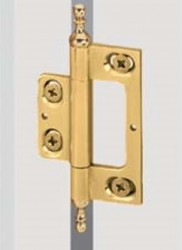 Brass hinge 101 with decorative finial image