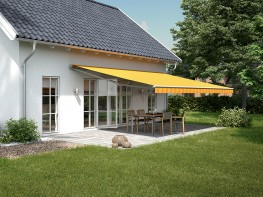 The red dot design award is already given to the markilux 1700, for the German Design Award 2014 it is nominated: this is an outstanding awning. Filigree, organic, elegant. Because of its sturdy construction even large areas can be easily shaded. The bionic te...