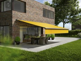 Multiple design options for one awning model. Development of an entirely unique technology. Extras that embellish every day, prolong the evening quality time outside and make all seasons patio-proof – all this is the markilux 6000. Design series standard and...