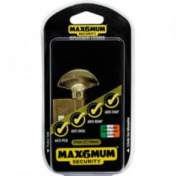 Keep intruders out with the attractive and inexpensive 67mm Irish Anti Snap Thumb Turn Euro Cylinder Lock from MAX6MUM SECURITY!