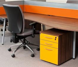 2-Drawer Mobile Under Desk Pedestal 568mm - Godfrey Syrett