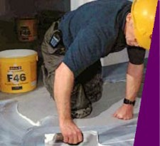 Solvent free adhesive that dries to a permanent tack. To minimise the effect of adhesive shadowing through thin vinyl/PVC floorcoverings, the adhesive can be trowel applied and flattened with a paint roller. Indefinite open time....