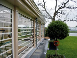 Clearguard, Constructed from UV- stabilized polycarbonate sheets With extruded Aluminium hinges....