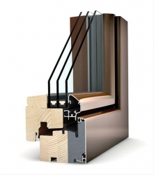 HF 210 Timber - Aluminium Window image