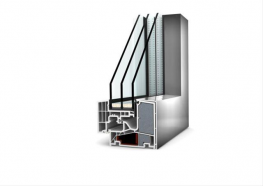 Square-edged composite window system consisting of multi-chamber reinforced PVC-U profiles with additional highly thermally insulating thermal foam and aluminium weatherproof attachment covers providing an easy cleaning surface. Continuous all around fixing of...