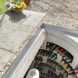 The Garden Spiral Cellar combines the Original Spiral Cellar with our specially designed external door to create a fully weather-proof and secure external cellar, with a lock control switch located within the house Ð so you can be sure your wine collection is...