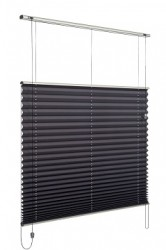Verosol's Pleated Blind is the ideal solution for heat and light control, and the blind almost disappears when raised.  Simple and elegant, with a small stack height and short projection, giving you an uninterrupted view from your home or office window. Pl...