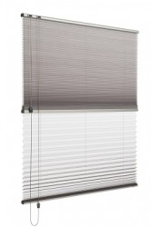 Verosol's Pleated Blind is the ideal solution for heat and light control, and the blind almost disappears when raised.  Simple and elegant, with a small stack height and short projection, giving you an uninterrupted view from your home or office window. 