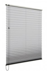 Verosol's Pleated Blind is the ideal solution for heat and light control, and the blind almost disappears when raised.  Simple and elegant, with a small stack height and short projection, giving you an uninterrupted view from your home or office window.Ple...