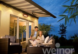 The new Opal Design II cassette awning stands out for its timeless, classic design hand in hand with groundbreaking weinor technology. Made to shade large areas, it blends in harmoniously with its surrounding architecture, the attractive shape of the cassette ...