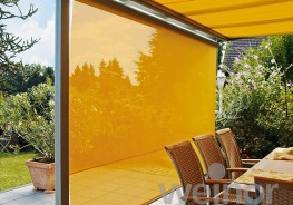 Textile _air – you will bring a great atmosphere under your patio roof or into your conservatory with a weinor Sottezza. The under-mounted conservatory awning changes glistening sunshine into enchanting light effects in summer. And last but not least, it red...
