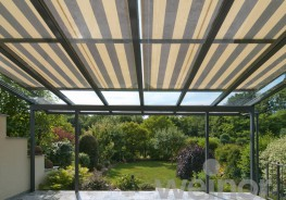 One of the innovators in the design of conservatory awnings: Due to the unobtrusive bespoke design, the WGM 2030 and 1030 adds an extra dimension to any conservatory or veranda/patio roof system. The roof mounted conservatory awnings guard against overheating ...