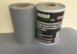 Radbar High Performance damp proof course is an engineered tri-polymer that gives outstanding resistance to radon gas and water vapour while maintaining excellent mechanical properties. Radbar High Performance DPC complies to BS EN 14909:2012. It also carries BBA certification under certificate number 15/5251, this ensures complete confidence that the product is of the highest quality.