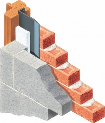 In buildings constructed of cavity walls, whenever there is a window or door opening it is necessary to close the cavity. The traditional manner involved turning the internal skin through 90 degrees and incorporating a DPC to prevent actual physical connection with the damp mortar and masonry of the outside skin. A flexible vertical DPC can be easily damaged or misplaced, The Type D DPC overcomes such problems and speeds up operations on site. The Type D is insulated and automatically introduces a thermal break within the reveal. The Type D offers flexibility and self-supporting rigidity, whilst protecting the masonry return completely.