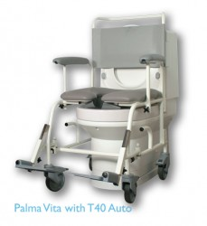"Carer Assisted, the T40 Auto Shower Chair provides the security and flexibility a conventional shower chair does but with the added benefit of being Clos-o-Mat Palma Vita compatible. T70: Equipped with 22"" rear wheels the T70 Auto shower chair allows the use..."