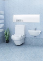 Wall-hung version of the Palma Vita.