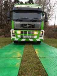 GroundMatz temporary roadway protection panels are a quick and affordable solution. With a unique anti-slip traction pattern and pleasing green colour, our panels will help prevent expensive damage and reinstatement costs to grassed or sensitive outside areas....