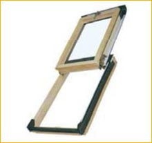 Top-hinged access roof windows (Pine or PVC) by Sola Skylights