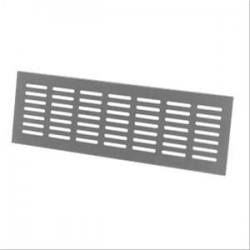Rectangular, slotted-plate aluminium ventilator with toothed rear flanges for push-in interior wall or panel recess mounting.- Enables secure ventilation.- Choice of material and finish.- Choice of standard dimensions.- Faceplate overlaps wall opening by (...