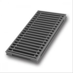 Aluminium floor grille with optional frame.