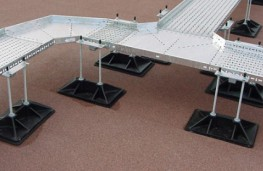 For smaller cable volumes, Roof-Pro's TAB-C support utilises a single, broad base that provides effective and non-penetrative support for tray and ladder runs.