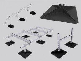 The Sure-Foot range of standard roof plant and services support products meet the growing demand for off-the-shelf, lightweight support solutions. 