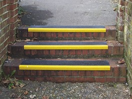 Heavy duty preformed Anti-Slip step cover providing a corrosion resistant surface for damaged, worn or slippery steps. Easy to fix with glue and screws.