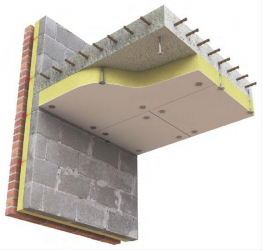 A calcium silicate faced board bonded to stone wool insulation, available in two thicknesses, providing up to 180 minutes fire protection, with excellent thermal and acoustic properties. The Promat TLFR Board is designed to be fixed to the underside of concret...