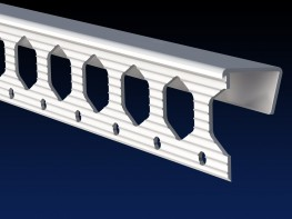 Renderplas PVC clip- on edge bead - EB12 - 12.5mm - Renderplas Ltd