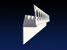 Renderplas shadow gap  'L' profile - SGL20 - 20mm - Renderplas Ltd