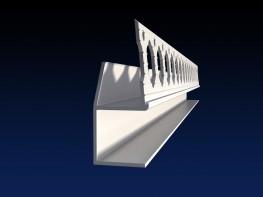 Renderplas shadowgap 'U' profile - SGU15 - 15mm - Renderplas Ltd