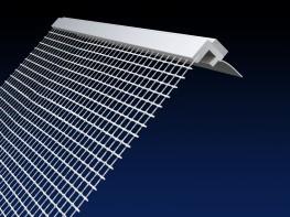 Renderplas 6mm PVC EWI reveal bead - RB6MESH - 100mm image