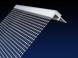 Renderplas 9mm PVC EWI reveal bead - RB9MESH - 100mm mesh image