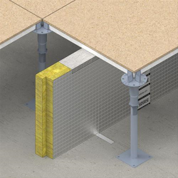 Lamatherm SIDERISE raisedRF access floor system has been specifically developed to provide cavity fire stops for use in voids between raised access floors and floor slabs. It is designed as a one-piece system and allows easy cutting and installation. The product also offers unique vertical compression to allow tightness of fit.