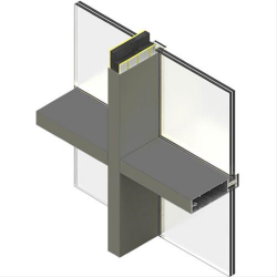 Mullion and Transom Inserts for Curtain Walling image